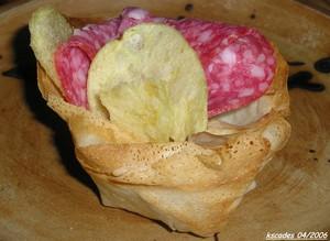 Bricks au thon et aux pommes de terre
